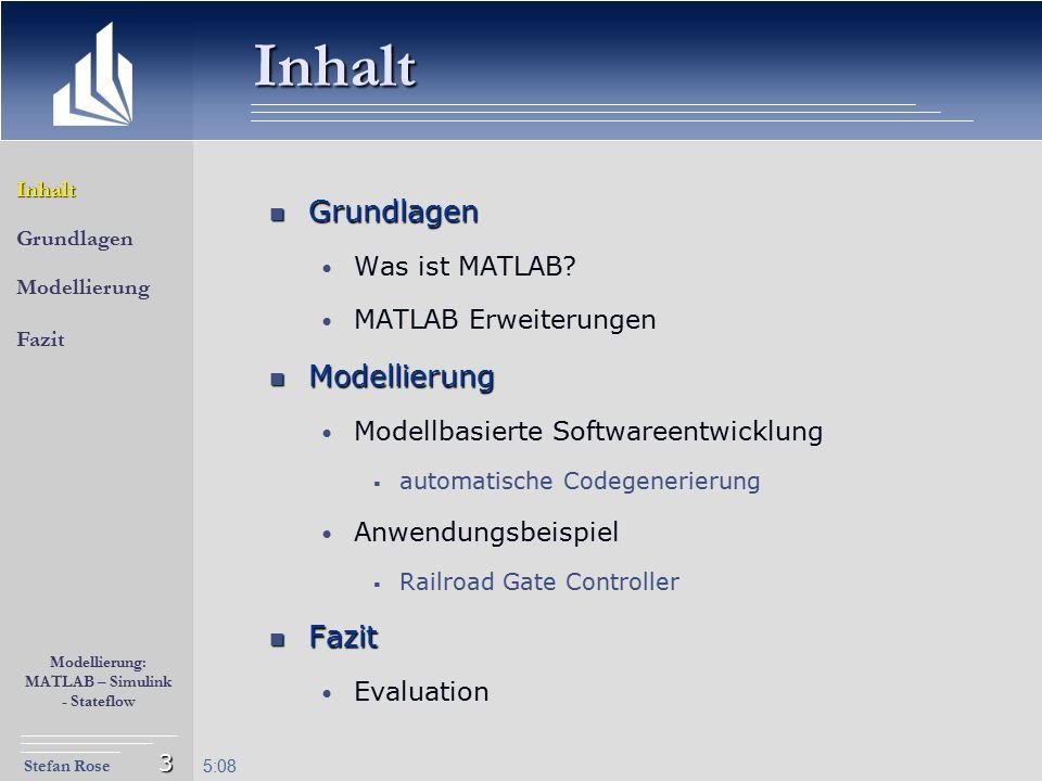 Inhalt Grundlagen Modellierung Fazit Was ist MATLAB