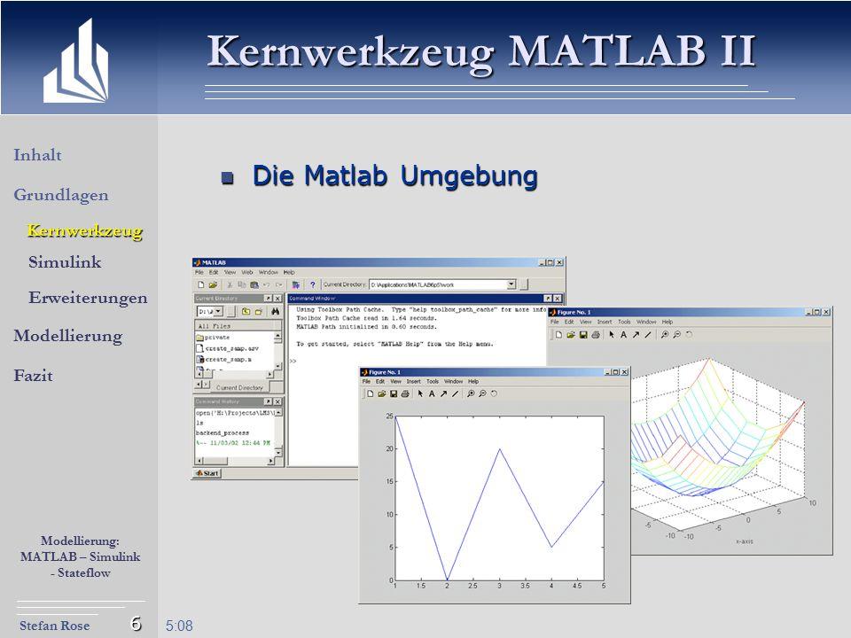 Kernwerkzeug MATLAB II