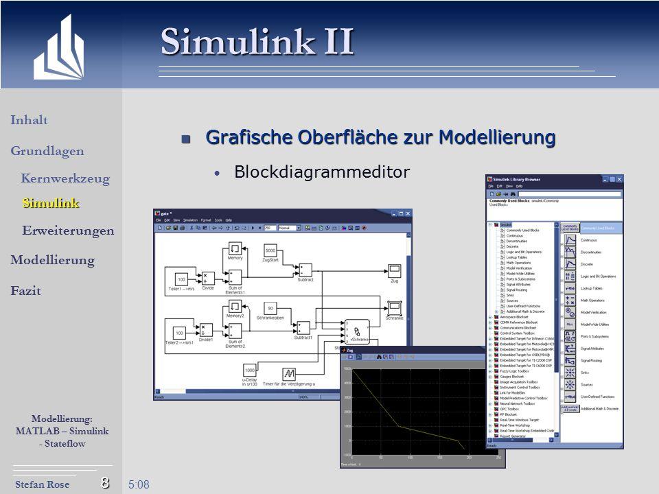 Simulink II Grafische Oberfläche zur Modellierung Blockdiagrammeditor