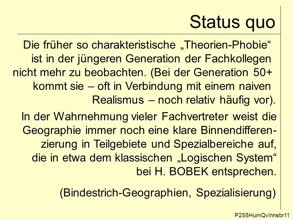 """Status quo Die früher so charakteristische """"Theorien-Phobie"""