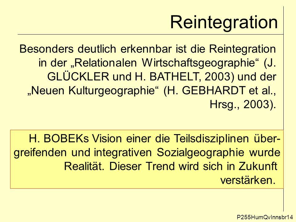 Reintegration Besonders deutlich erkennbar ist die Reintegration