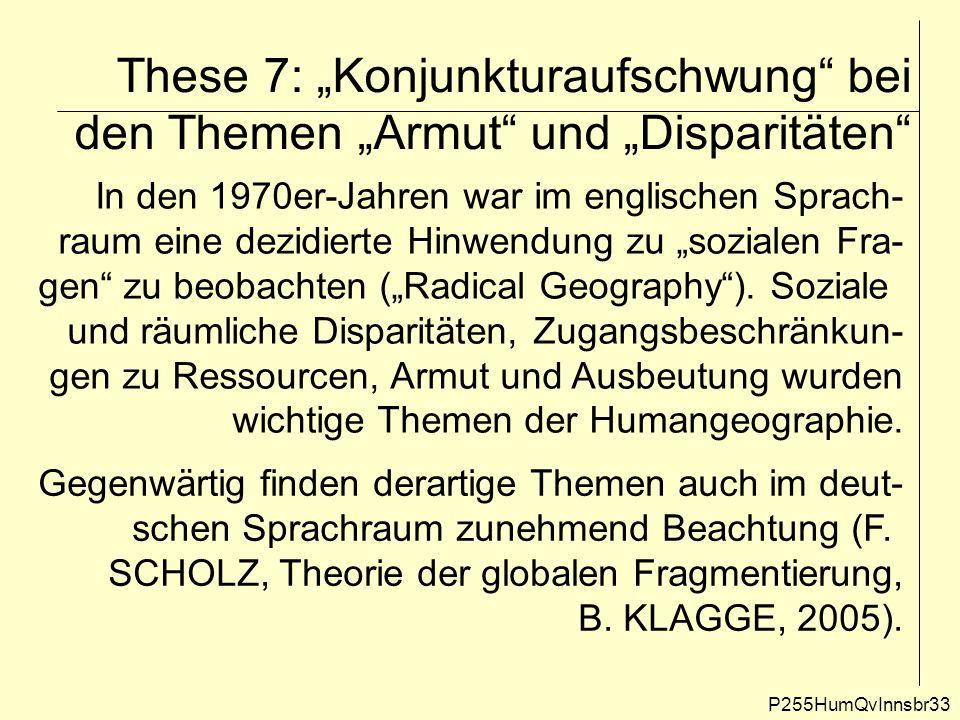 """These 7: """"Konjunkturaufschwung bei den Themen """"Armut und """"Disparitäten"""