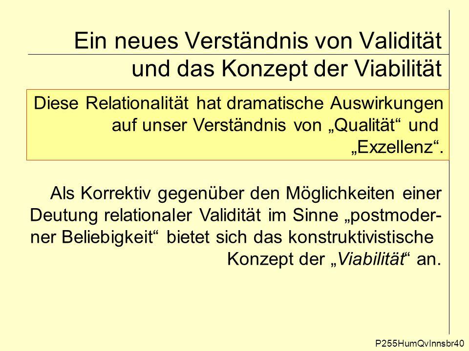 Ein neues Verständnis von Validität und das Konzept der Viabilität