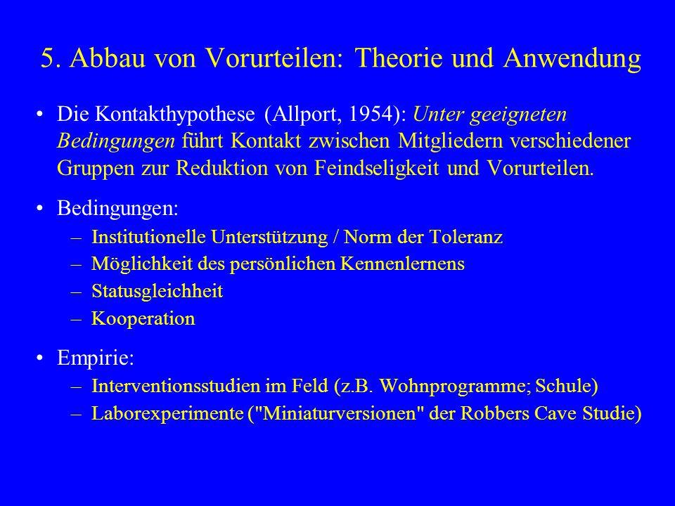 5. Abbau von Vorurteilen: Theorie und Anwendung