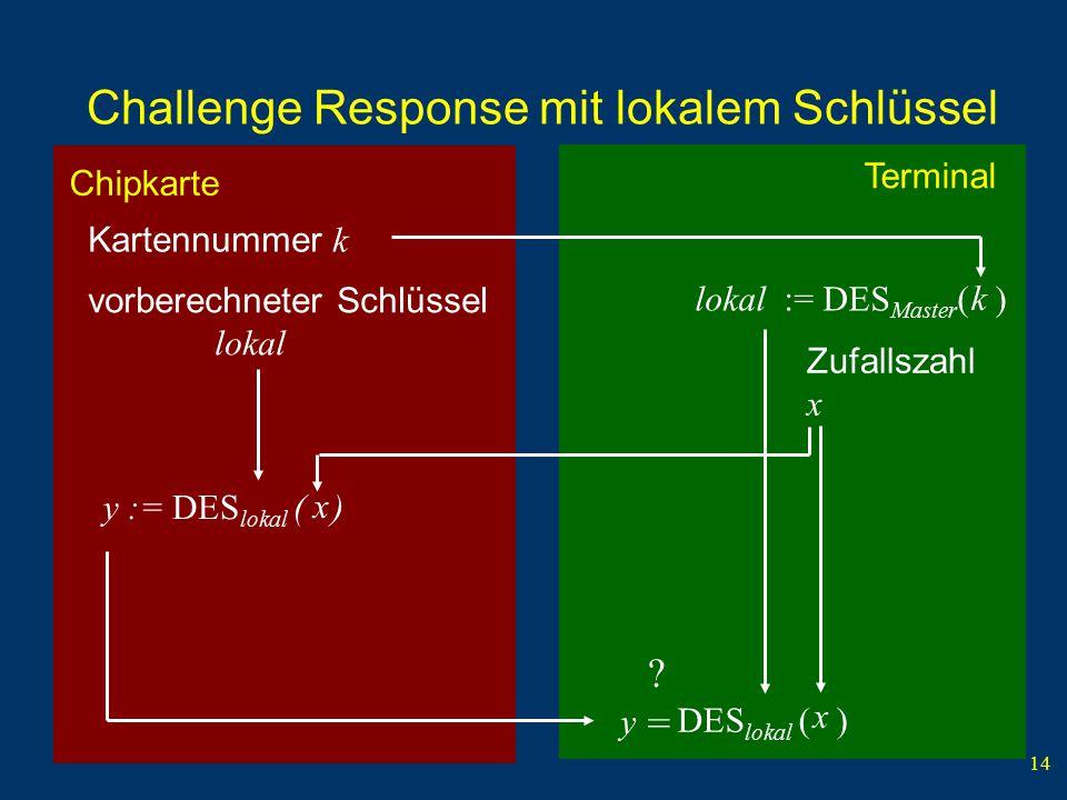 Challenge Response mit lokalem Schlüssel