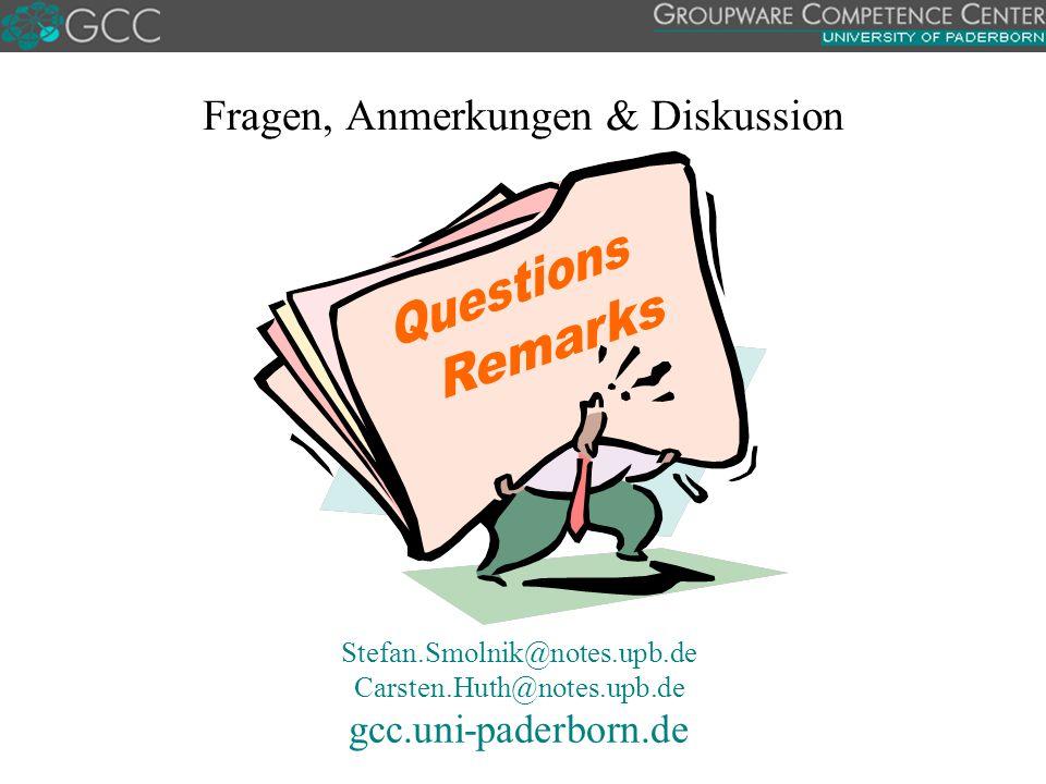 Fragen, Anmerkungen & Diskussion