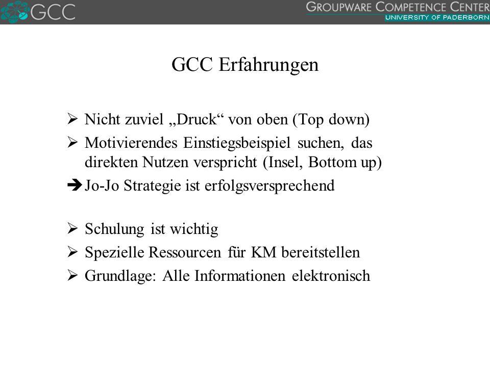 """GCC Erfahrungen Nicht zuviel """"Druck von oben (Top down)"""