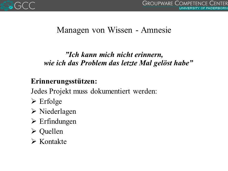 Managen von Wissen - Amnesie