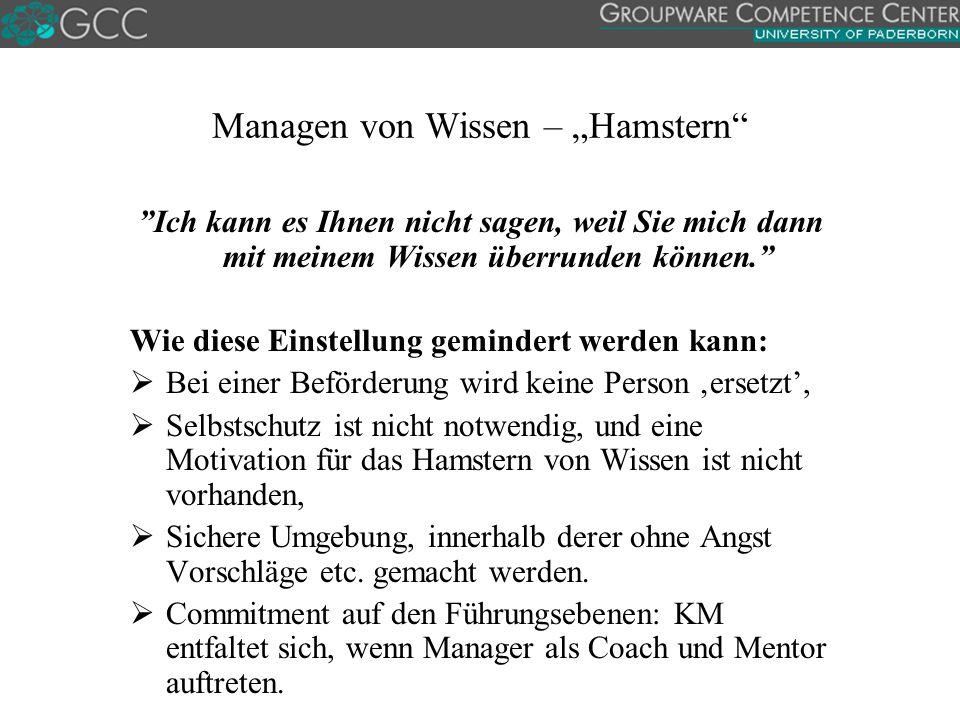 """Managen von Wissen – """"Hamstern"""