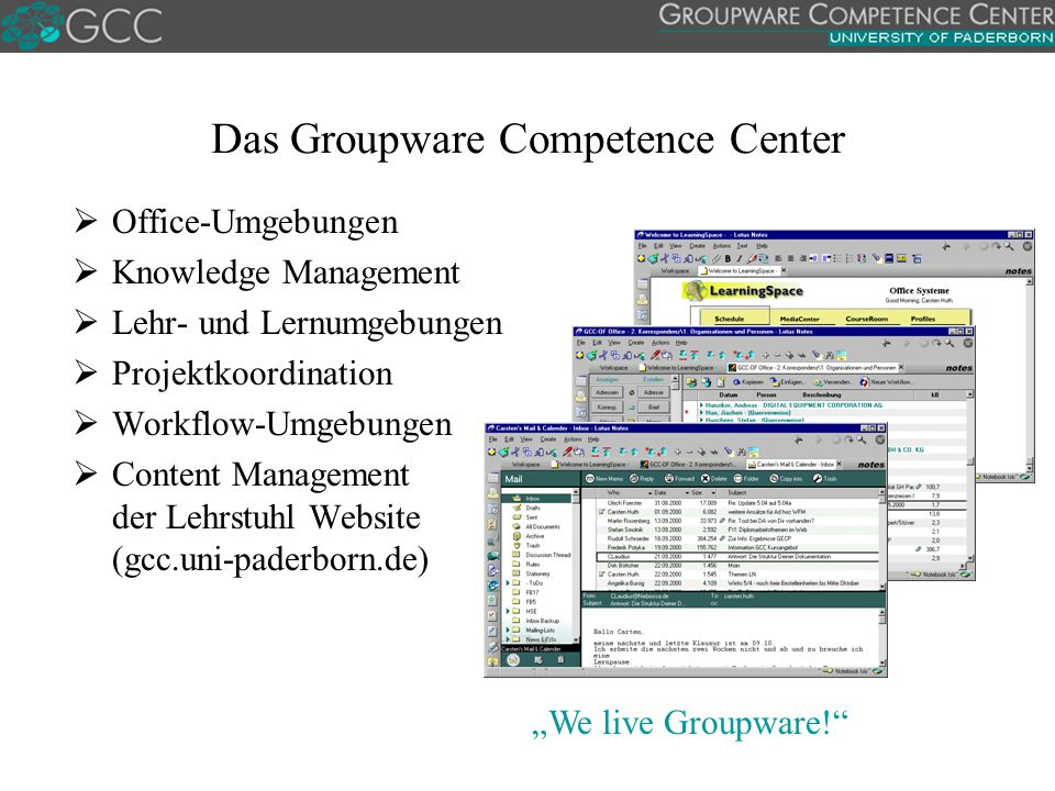 Das Groupware Competence Center