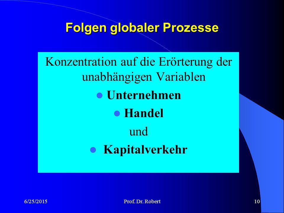 Folgen globaler Prozesse