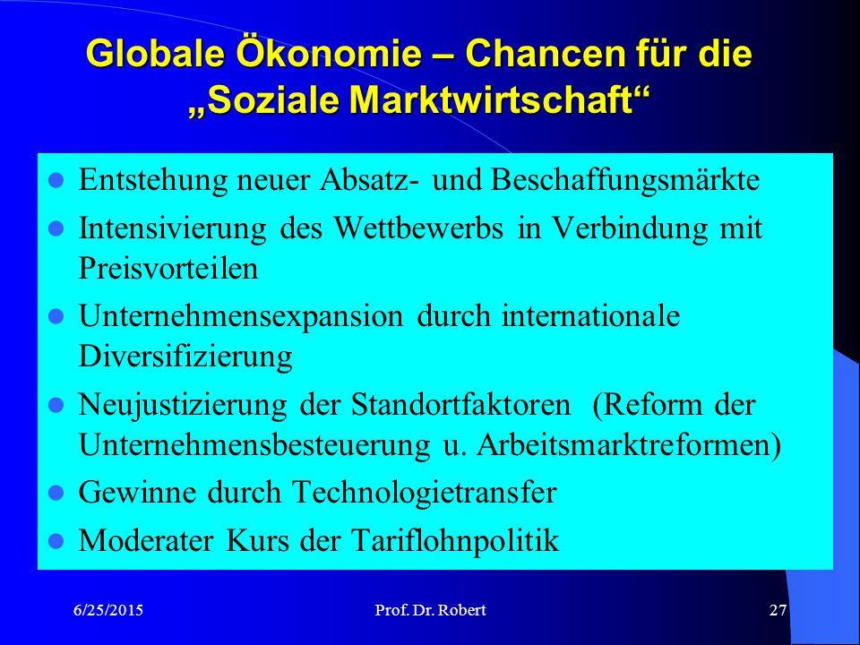"""Globale Ökonomie – Chancen für die """"Soziale Marktwirtschaft"""