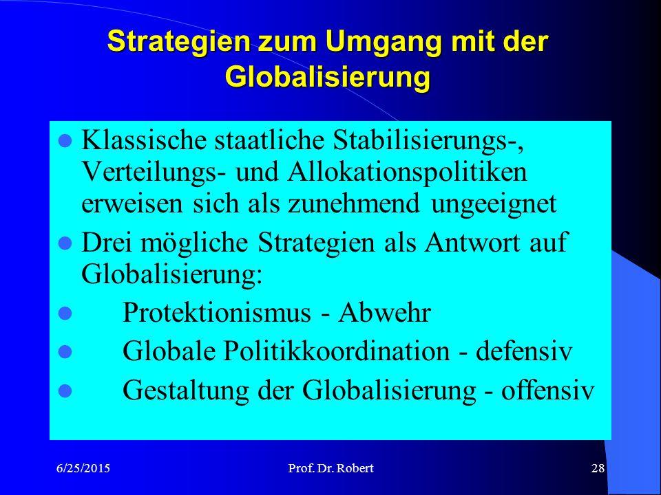 Strategien zum Umgang mit der Globalisierung