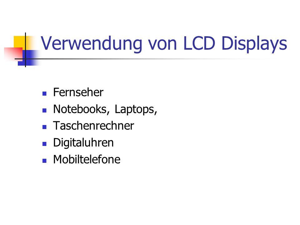 Verwendung von LCD Displays
