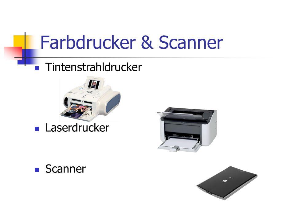 Farbdrucker & Scanner Tintenstrahldrucker Laserdrucker Scanner