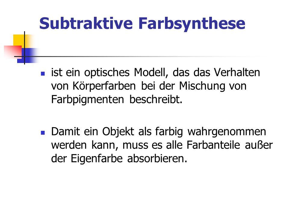 Subtraktive Farbsynthese
