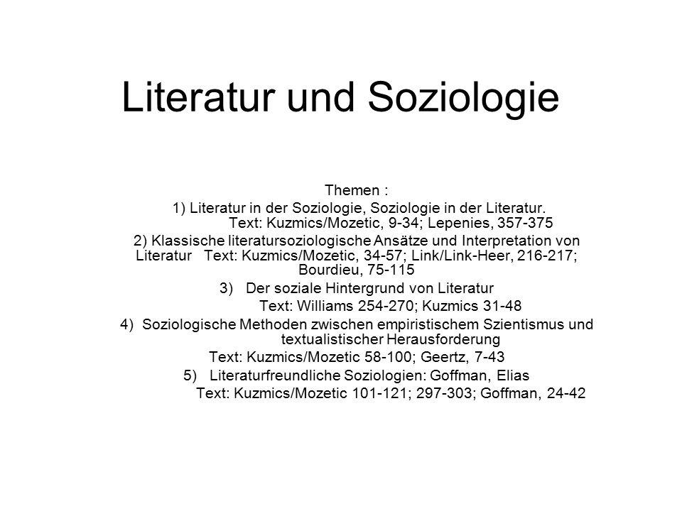 Literatur und Soziologie