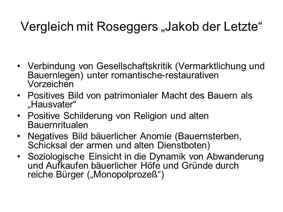 """Vergleich mit Roseggers """"Jakob der Letzte"""
