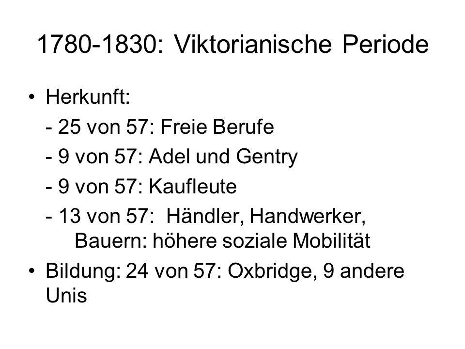 1780-1830: Viktorianische Periode