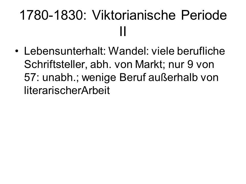 1780-1830: Viktorianische Periode II