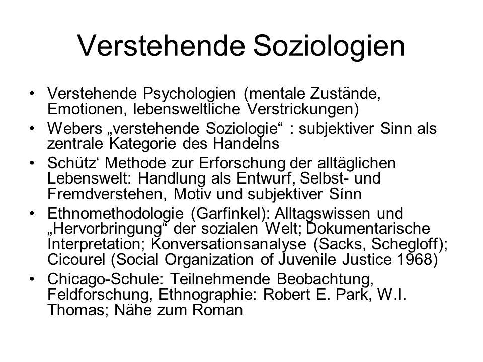 Verstehende Soziologien