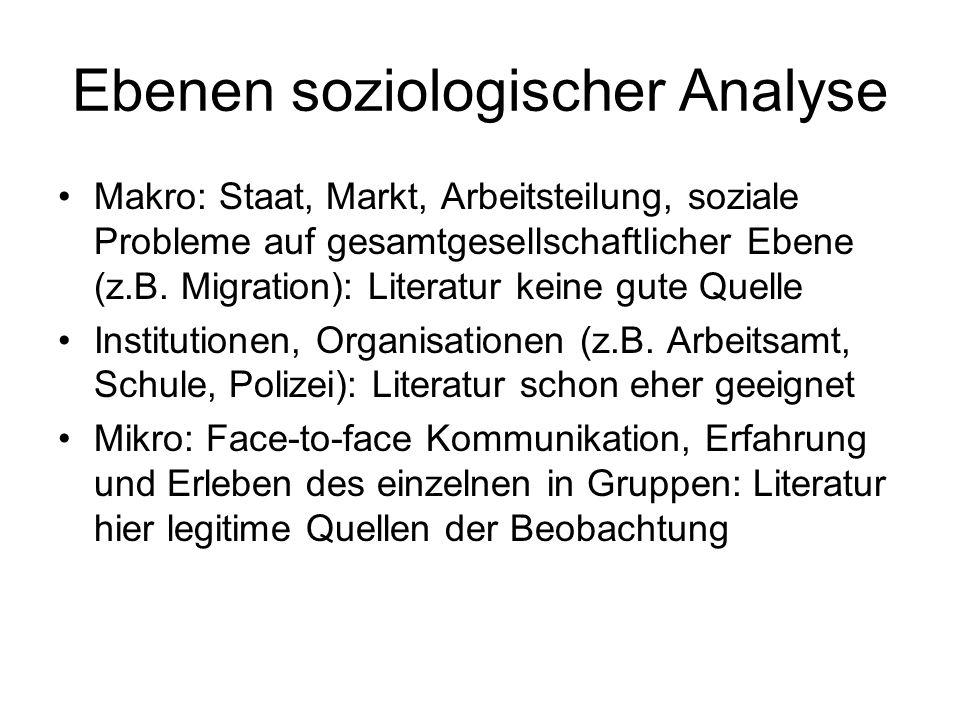 Ebenen soziologischer Analyse