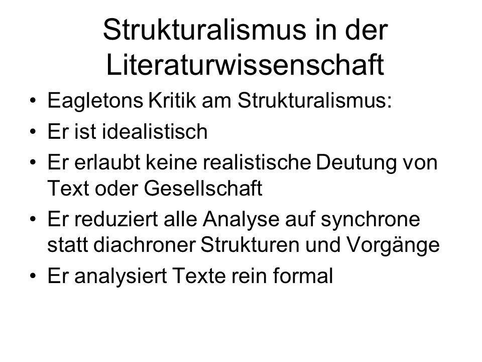Strukturalismus in der Literaturwissenschaft