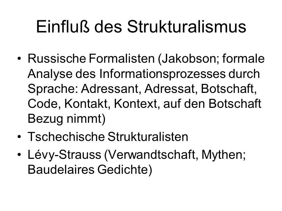 Einfluß des Strukturalismus