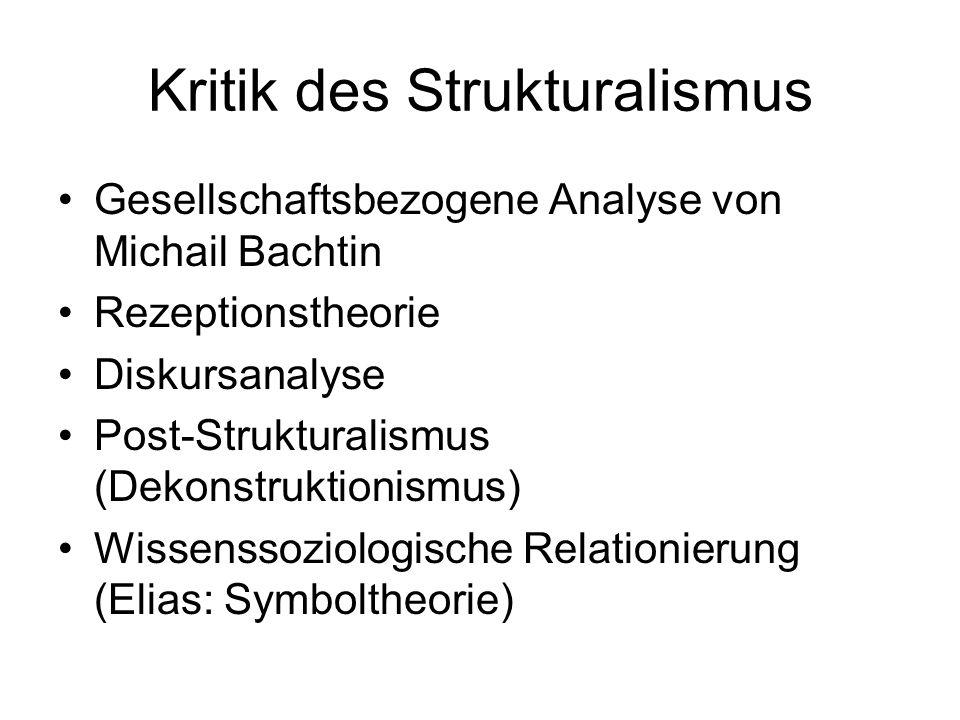 Kritik des Strukturalismus
