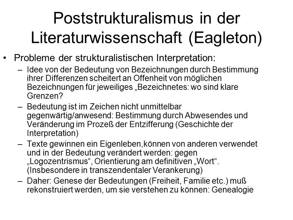 Poststrukturalismus in der Literaturwissenschaft (Eagleton)