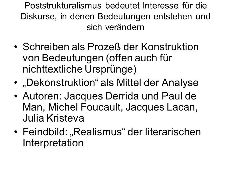 """""""Dekonstruktion als Mittel der Analyse"""