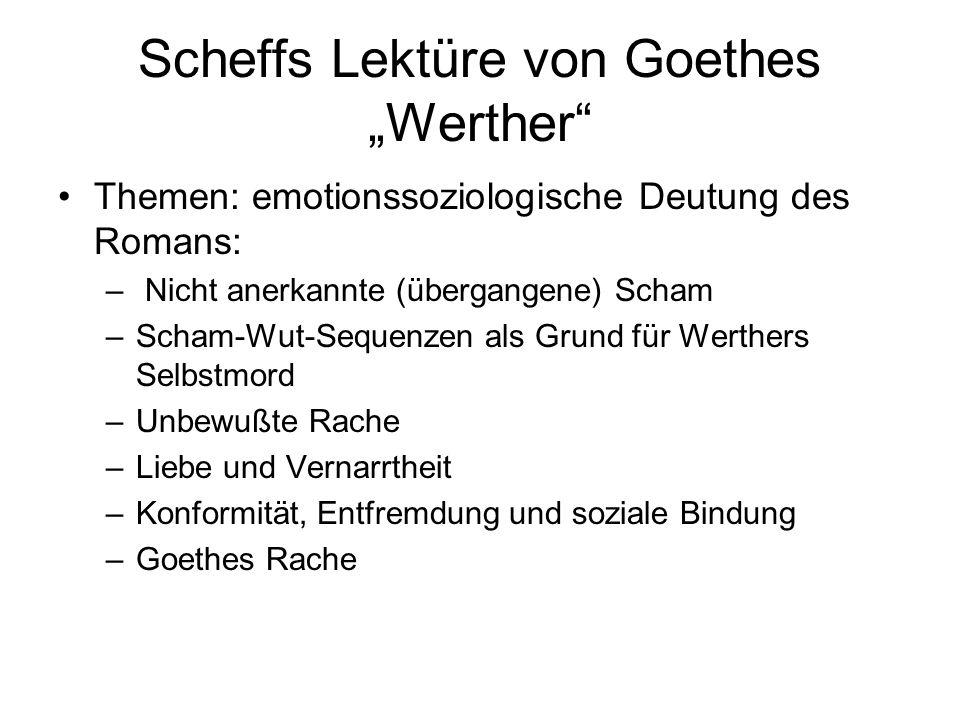 """Scheffs Lektüre von Goethes """"Werther"""