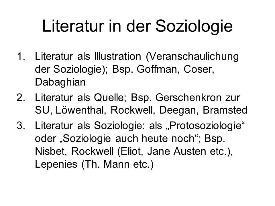 Literatur in der Soziologie