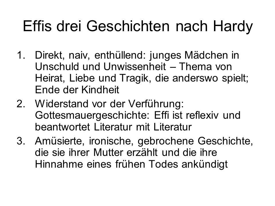 Effis drei Geschichten nach Hardy