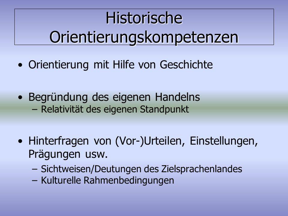 Historische Orientierungskompetenzen
