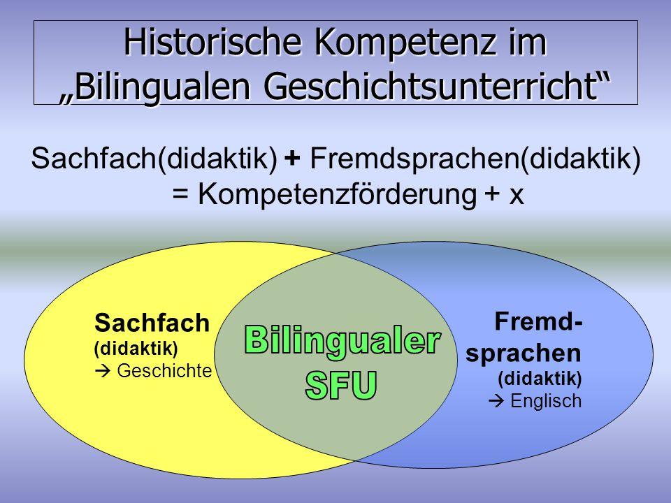 """Historische Kompetenz im """"Bilingualen Geschichtsunterricht"""