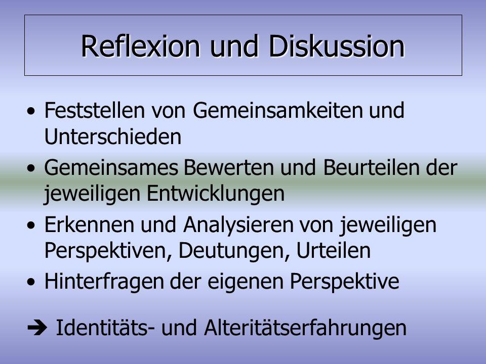 Reflexion und Diskussion