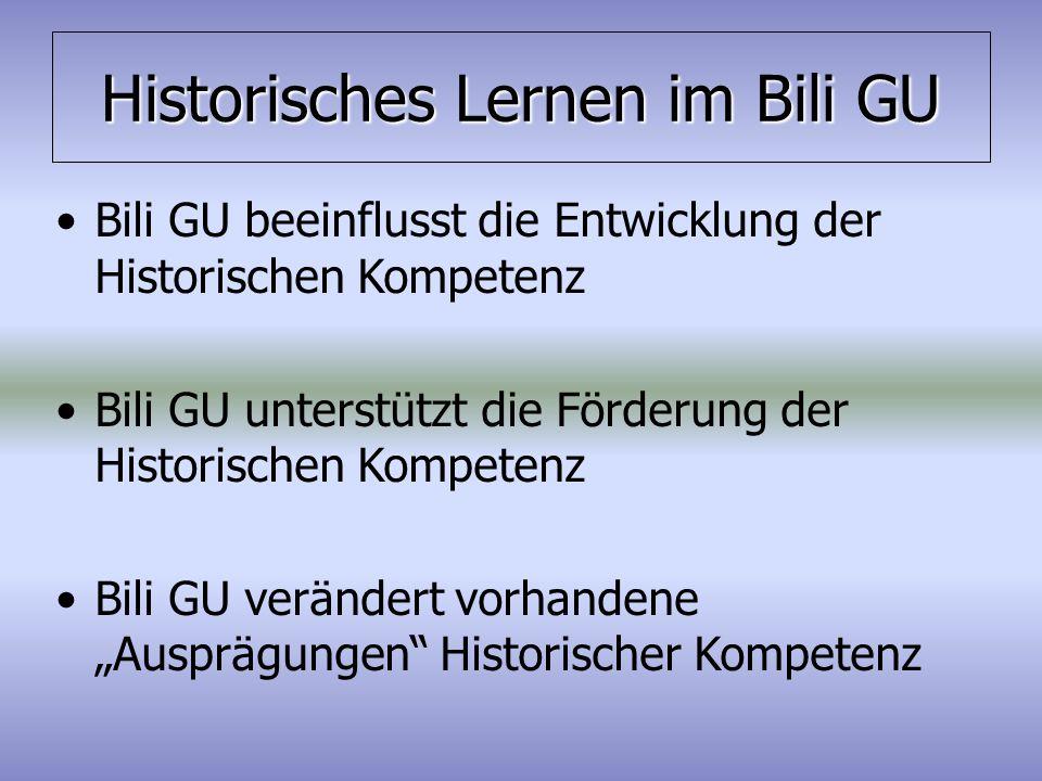 Historisches Lernen im Bili GU