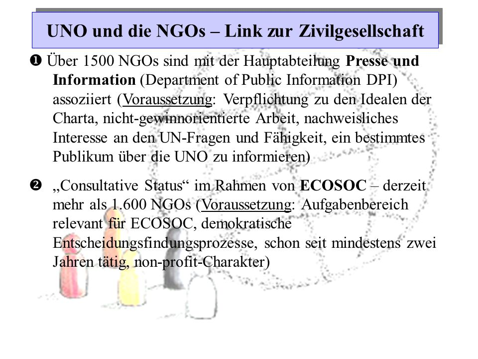 UNO und die NGOs – Link zur Zivilgesellschaft