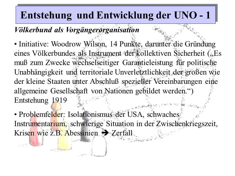 Entstehung und Entwicklung der UNO - 1