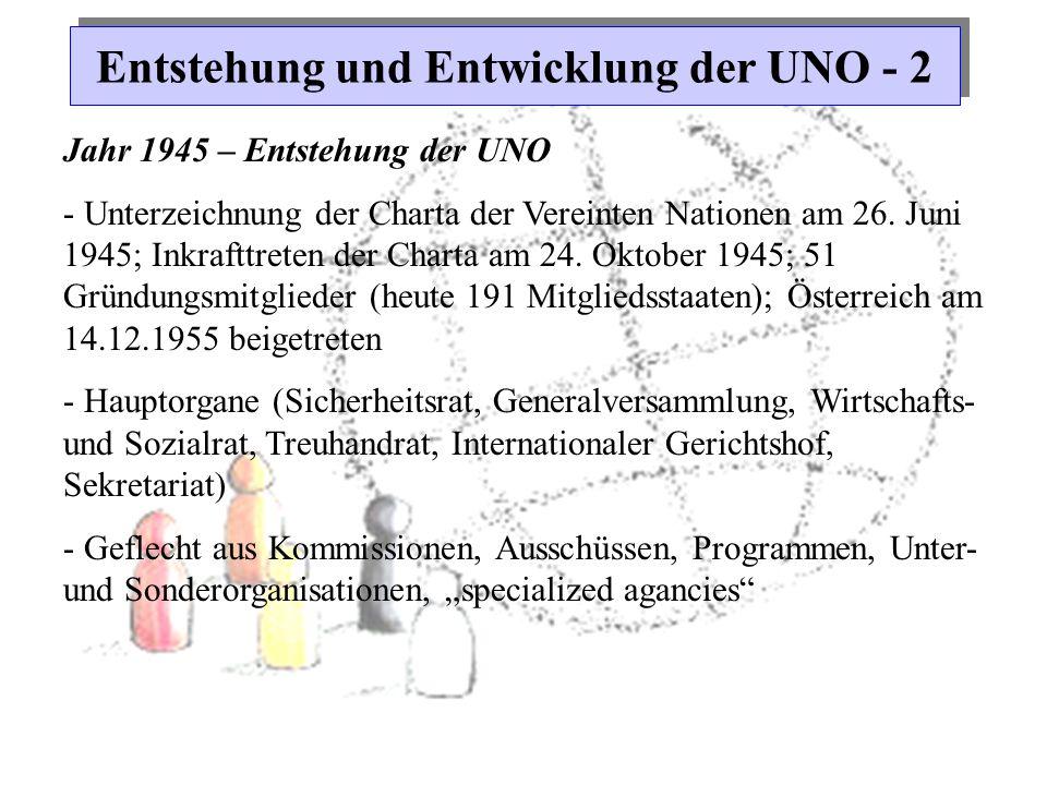 Entstehung und Entwicklung der UNO - 2