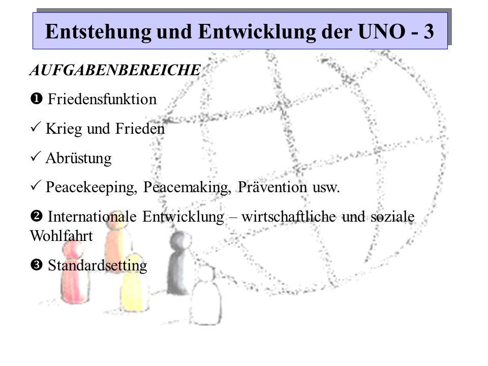 Entstehung und Entwicklung der UNO - 3