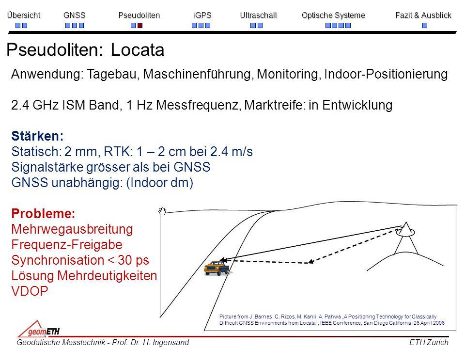 Pseudoliten: LocataAnwendung: Tagebau, Maschinenführung, Monitoring, Indoor-Positionierung.