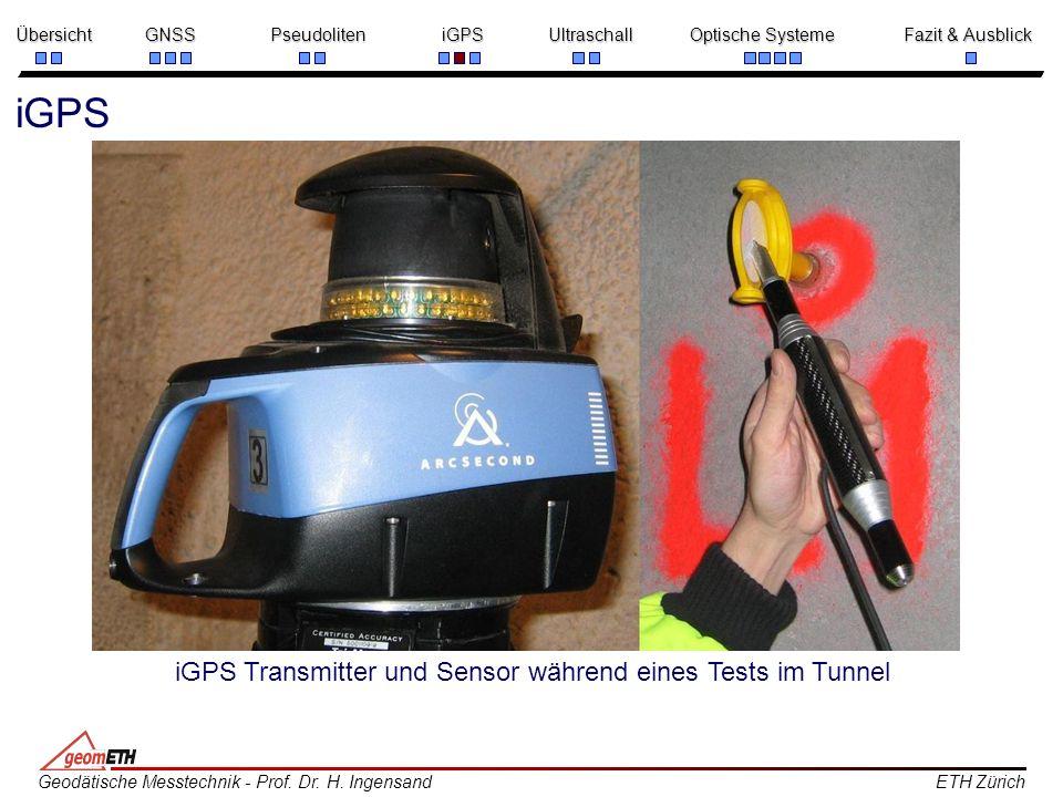 iGPS iGPS Transmitter und Sensor während eines Tests im Tunnel