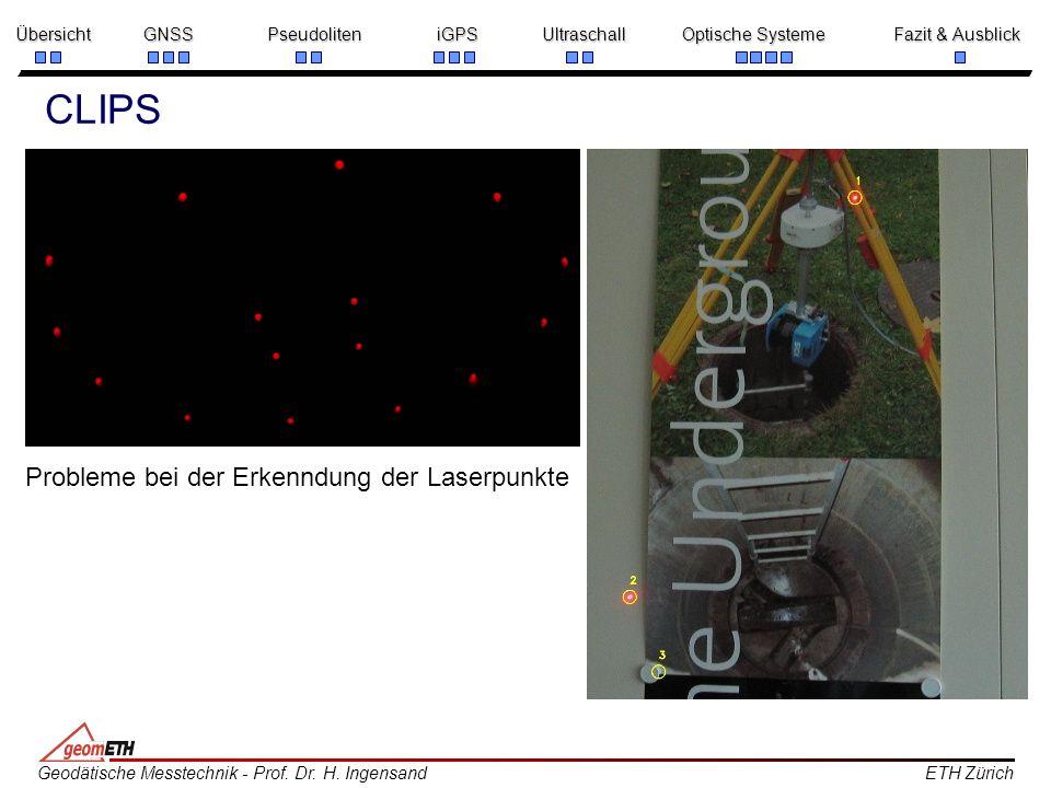 CLIPS Probleme bei der Erkenndung der Laserpunkte