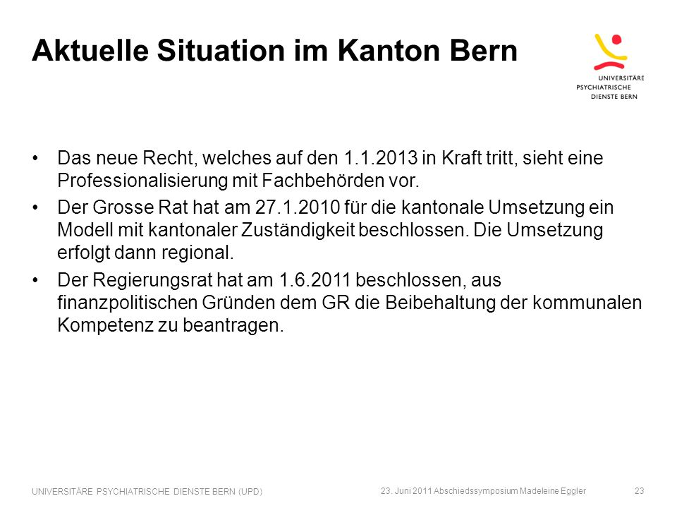 Aktuelle Situation im Kanton Bern