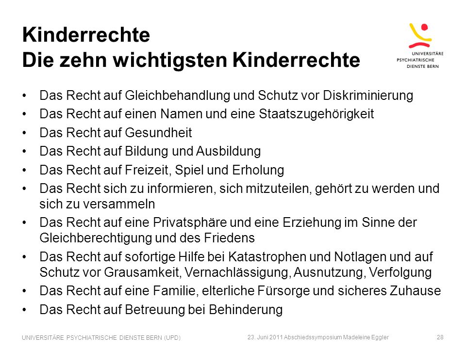 Kinderrechte Die zehn wichtigsten Kinderrechte
