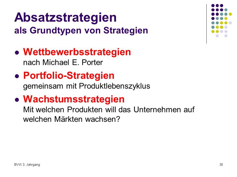 Absatzstrategien als Grundtypen von Strategien
