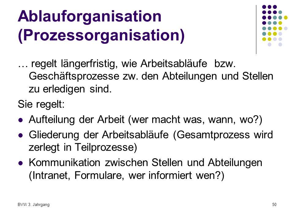Ablauforganisation (Prozessorganisation)