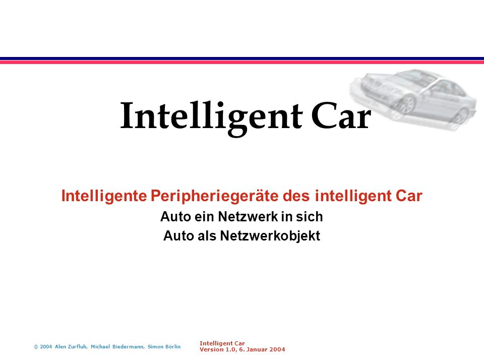 Intelligent Car Intelligente Peripheriegeräte des intelligent Car